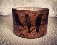 Rustic Brown Leather Cuff Bracelet, Rustic Jewelry, Grunge Style, Ladies Handmade Leather Jewelry