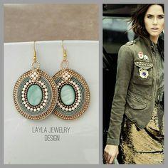 Layla Jewelry Design Homemade Jewelry, Diy Jewelry, Jewelry Box, Jewelery, Jewelry Design, Soutache Jewelry, Beaded Earrings, Crochet Earrings, Drop Earrings