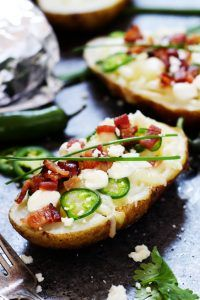 "Grilled ""Baked"" Potato Bar 
