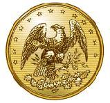 Eagle button. The Florida eagle button was patterned after an unofficial state seal image used in the 1850s-60s that was based closely on Florida's old territorial seal.