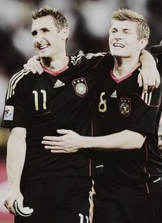 Miroslav Klose and Toni Kroos; the master and the student. Die Nationalmannschaft. I want t meet both of them!