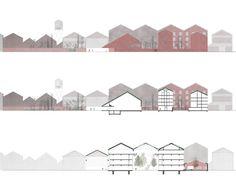 Lycée Hôtelier de Lille, Fives Cail / Caruso St John Architects Architecture Graphics, Architecture Drawings, Architecture Portfolio, Concept Architecture, Landscape Architecture, Architecture Design, Caruso St John, Planer Layout, Design Presentation