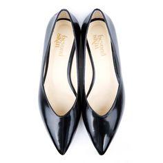 Opal Black V Front Vegan Leather Flat Vegan Shoes | Beyond Skin