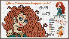 Merida Brave perler bead pattern by Carina Cassol