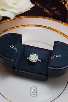 hammerstonea #harrywinstonengagementring Cushion Cut Engagement Ring, Big Engagement Rings, Kay Jewelers Engagement Rings, Harry Winston Engagement Rings, Beautiful Engagement Rings, Solitaire Engagement, Wedding Engagement, Beautiful Rings, Wedding Rings Vintage