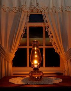 Nothing like the soft glow of candles and lanterns.on a peaceful country night. Lamp Light, Light Up, Soft Light, Night Light, Window View, Through The Window, Candle Lanterns, Oil Lamps, Dream Homes