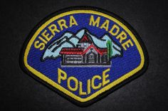Sierra Madre Police Patch, Los Angeles County, California (Current 1987 Issue)