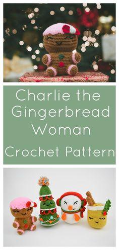 Free Crochet Pattern - Christmas Gingerbread Man Woman