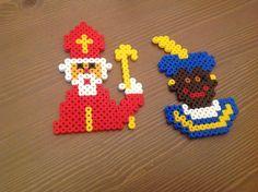 Sinterklaas en piet van strijkkraaltjes