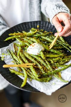 Green Bean Fries aus dem Ofen