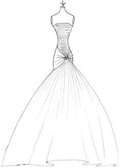 Wedding Dress Sketches - Couture Fashion Design on ...