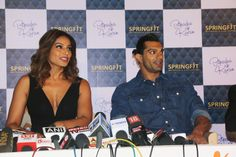 Bipasha Basu & Karan Singh Grover at the Springfit Mattresses' autograph collection launch