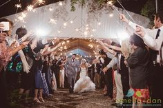 Leaving @pphgcharleston Lowndes Grove Plantation reception amid shiny happy people with a lot of sparklers! Wedding coordination and design by @charlestonevent
