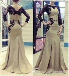 Wholesale Crystal Evening - Buy 2014 Abaya Pageant Dresses Crew Neck Illusion Vestidos De Fiesta Appliques Glitz Long Sleeves Black Lace Mermaid Evening, $136.0 | DHgate
