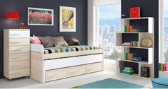 Youth bedroom / Youth bedroom www. Bedroom Carpet, Bunk Beds, Entryway, Kids Rugs, Storage, Table, House, Furniture, Cabin Beds