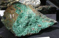 Photos of Natural Copper Ore, Copper minerals, Crystal ores, rich copper - gold specimens