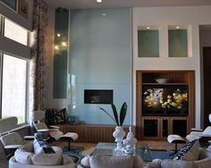 Family Room Large Niches Above Niches Design, Pictures, Remodel, Decor and Ideas - page 15