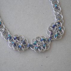 Chainmaille Flower Necklace