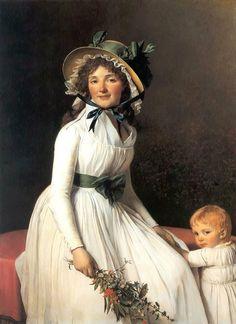 Portrait of Madame Emilie Seriziat and her Son; 131 × 96 cm. Date 1795(1795) Jacques-Louis David