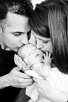 Newborn and parents.