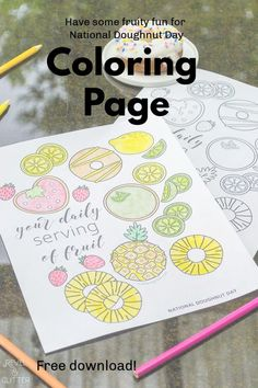 Celebrate all things sweet with a free doughnut themed coloring page Doughnut, Coloring Pages, Glitter, Sweet, Kids, Crafts, Quote Coloring Pages, Candy, Young Children