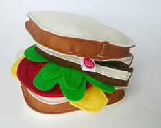 Wool felt play pita for pretend play and play by MouseAndMoose