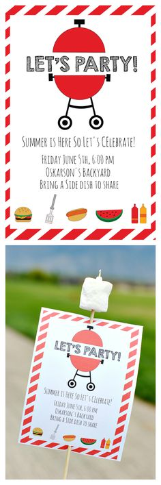 BBQ Cookout - Free Printable BBQ Party Invitation Template - bbq invitation template