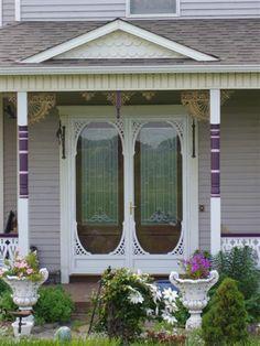 Double front screen doors.