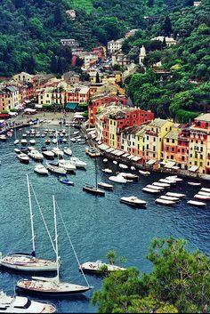 Portofino,Italy, most beautiful port, also Santa Margarita, equally pretty is very near there.