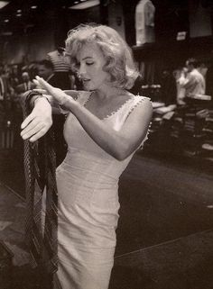 Marilyn checking out neckties.