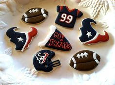 Houston Texans Football Cookies - gonna make a clean recipe for these :)