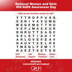 Repin this crossword puzzle and let us know the first three words you see! #HIV #AIDS #NWGHAAD