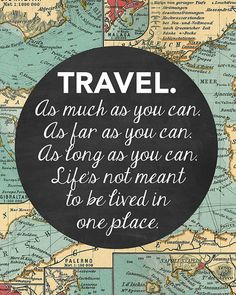 PRINTABLE Travel Print Travel Quote Travel by PrintableQuirks