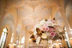 pink + gold ceremony arrangements | Juliet Elizabeth #wedding