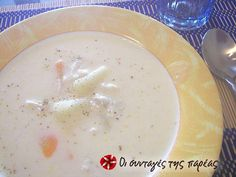 Great recipe for Fish soup. A fish soup with vegetables and rice. Greek Recipes, Fish Recipes, Soup Recipes, Dessert Recipes, Desserts, Lemon Potatoes, Fish Soup, Cheese Biscuits, Gourmet