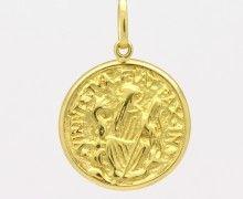 Medalha de São Bento Ouro Amarelo 18k 750. www.marciojoalheiros.com.br
