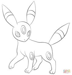 espeon and umbreon coloring pages - Google Search