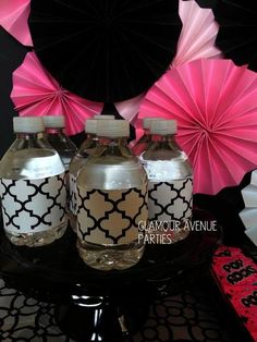 Hostess with the Mostess® - Pink Black and White Tween Spa Party