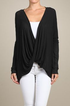Twisted Crossover Top (Black) – DylanMarie