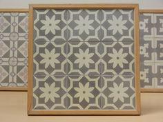 Handmade encaustic tiles, 15x15 cm format. 1571 Flower Point.  Brochure available.