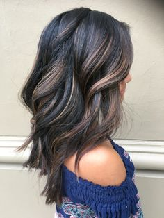 Dark balayage hair. Dark hair with dimensions. Dark hair don't care. Balayage highlights More
