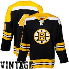 Mitchell & Ness Bobby Orr Boston Bruins Authentic Throwback Jersey-Gold