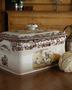 Woodland Hunting Dogs Bread Bin at Neiman Marcus.