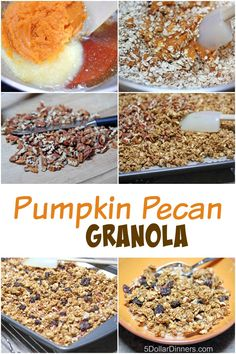 Pumpkin Pecan Granola ~ freezer friendly! from 5DollarDinners.com