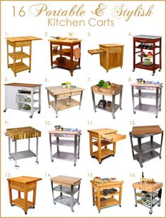 Portable and Stylish Kitchen Island Carts | Kitchen Designs.com Blog of Kitchen Designs by Ken Kelly, Inc. | Long Island NY