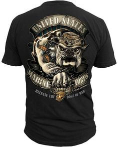Men's Marines T-Shirt - USMC Release the Dogs of War