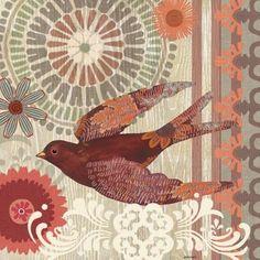 Santa Fe Birds-Swallowtail by Jennifer Brinley Vintage Images, Vintage Art, Cafe Pictures, Bird Pillow, Spring Birds, Bird Illustration, Exotic Birds, Little Birds, Bird Art