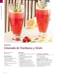 Limonada de frambuesa y limón Thermomix
