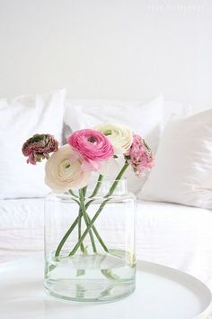 bright whites and fresh blooms
