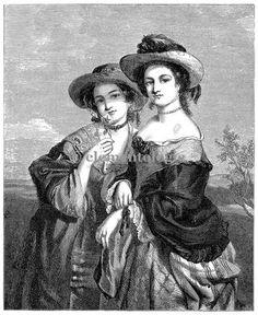 Victorian Image No. 1487 , Printable Digital Image File - elementologie, Vintage Market And Design